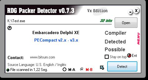 RDG Packer Detector