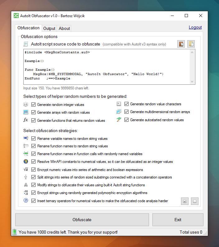 AutoIt Obfuscator v1.0
