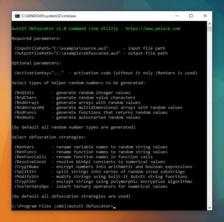 AutoIt Obfuscator wersja konsolowa